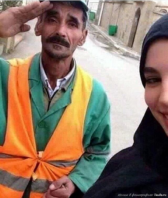 Мусульманка из Алжира с отцом