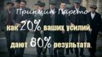 Принцип Парето: как 20% ваших усилий дают 80% результата.